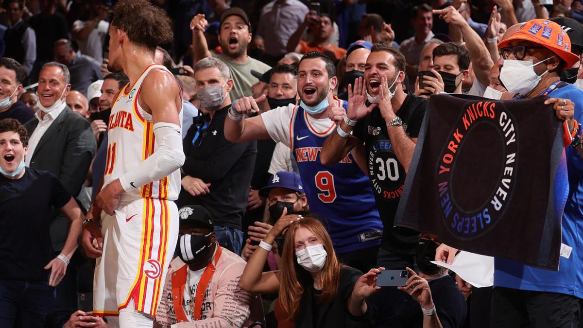 Hawks vs. Knicks: Trae Young smiles at MSG crowd's obscene chant, says 'I'll see you in the A' for Game 3 - CBSSports.com