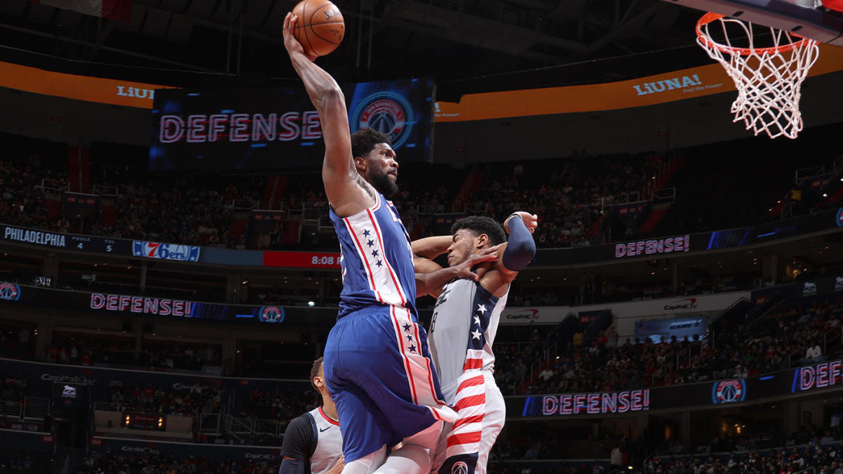 76ers vs. Wizards: Joel Embiid's unstoppable assault against single coverage sends warning to future opponents – CBS Sports