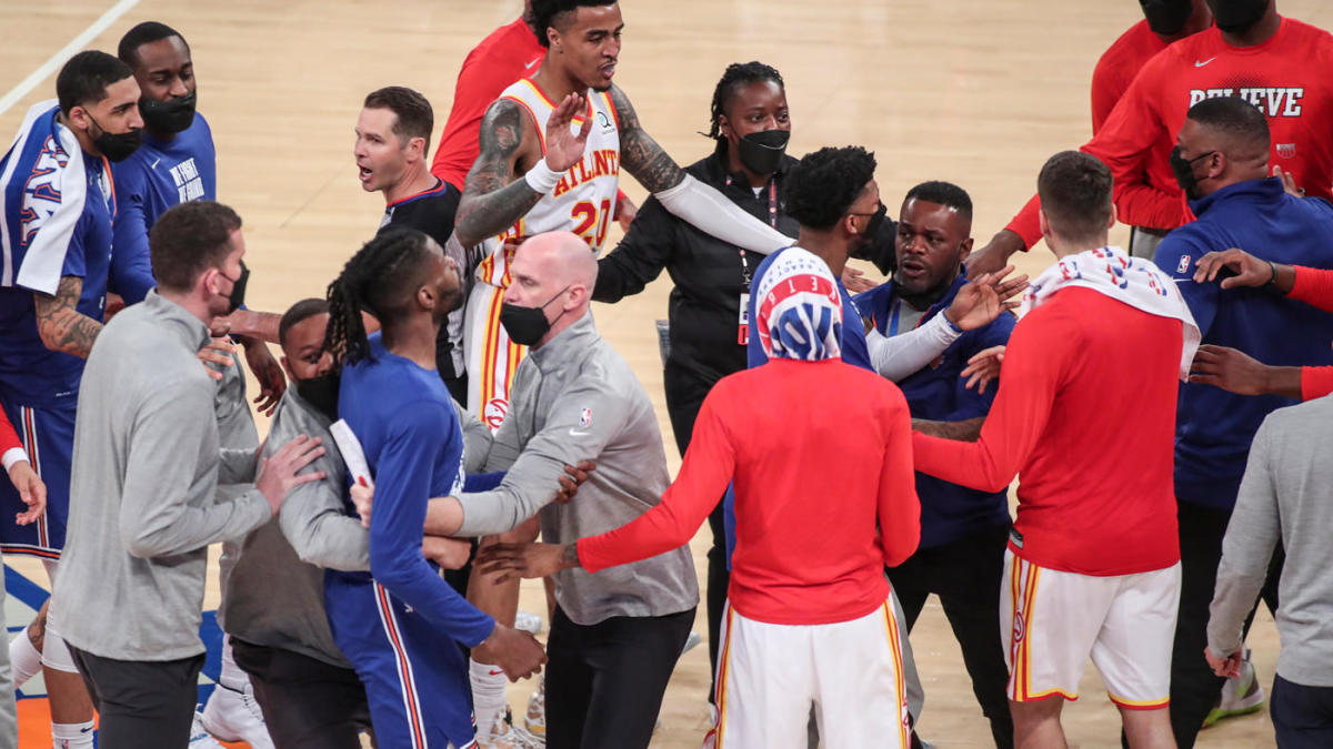 NBA playoffs: Knicks Hawks get separated at halftime after scuffle involving Trae Young Reggie Bullock – CBS Sports