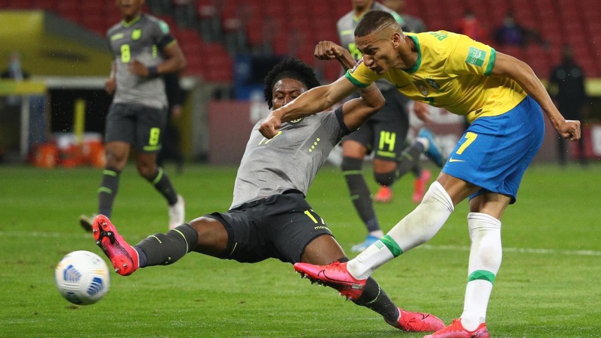 Brazil vs. Ecuador score: Neymar sets up Richarlison winner to maintain perfect record in World Cup qualifying - CBSSports.com