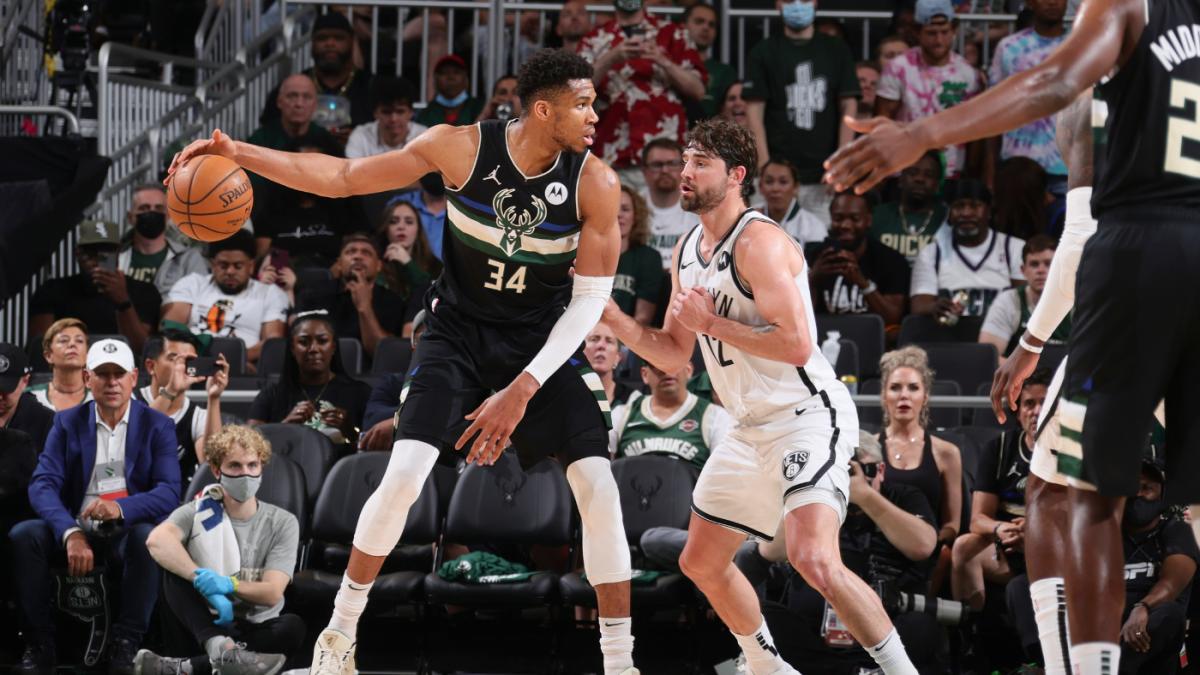 Nets vs. Bucks score: Khris Middleton Giannis Antetokounmpo help Milwaukee avoid elimination force a Game 7 – CBSSports.com