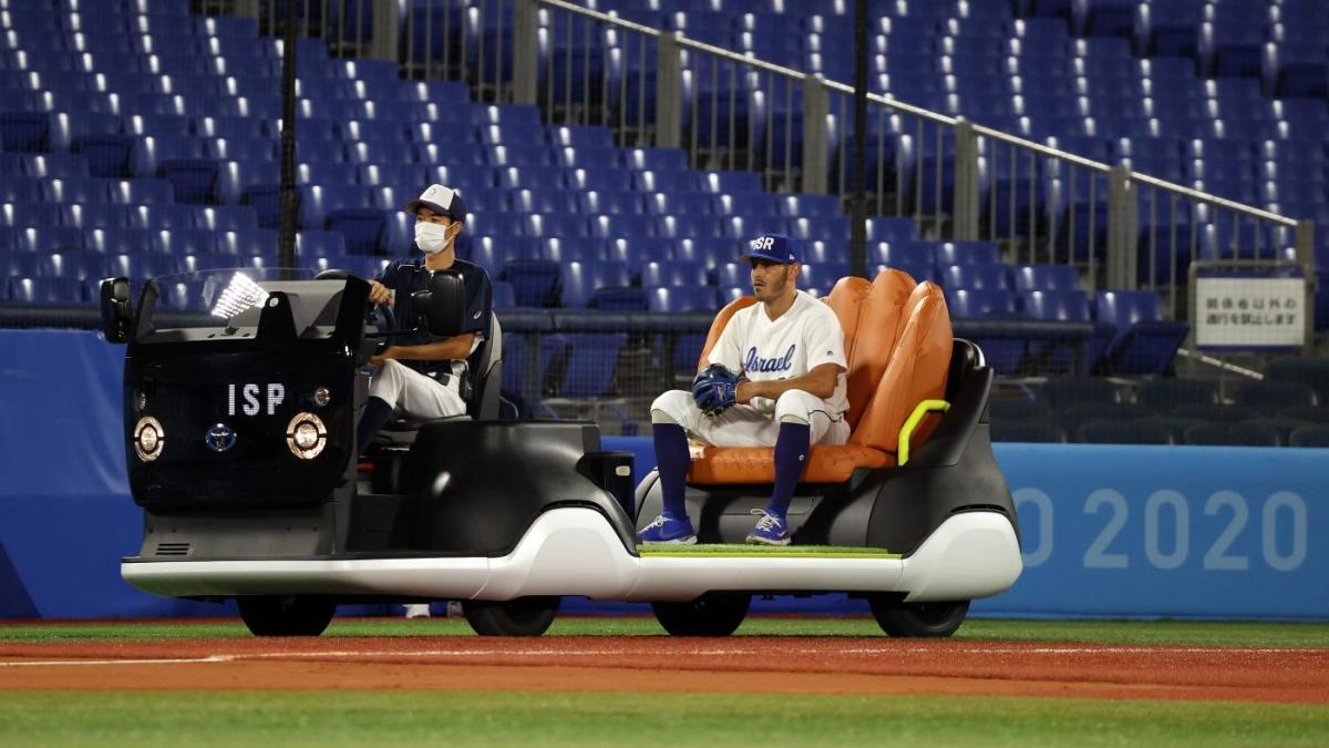 Juegos Olímpicos de Tokio 2020: el carro de bullpen de guante gigante se roba el espectáculo cuando el béisbol comienza en los Juegos de verano