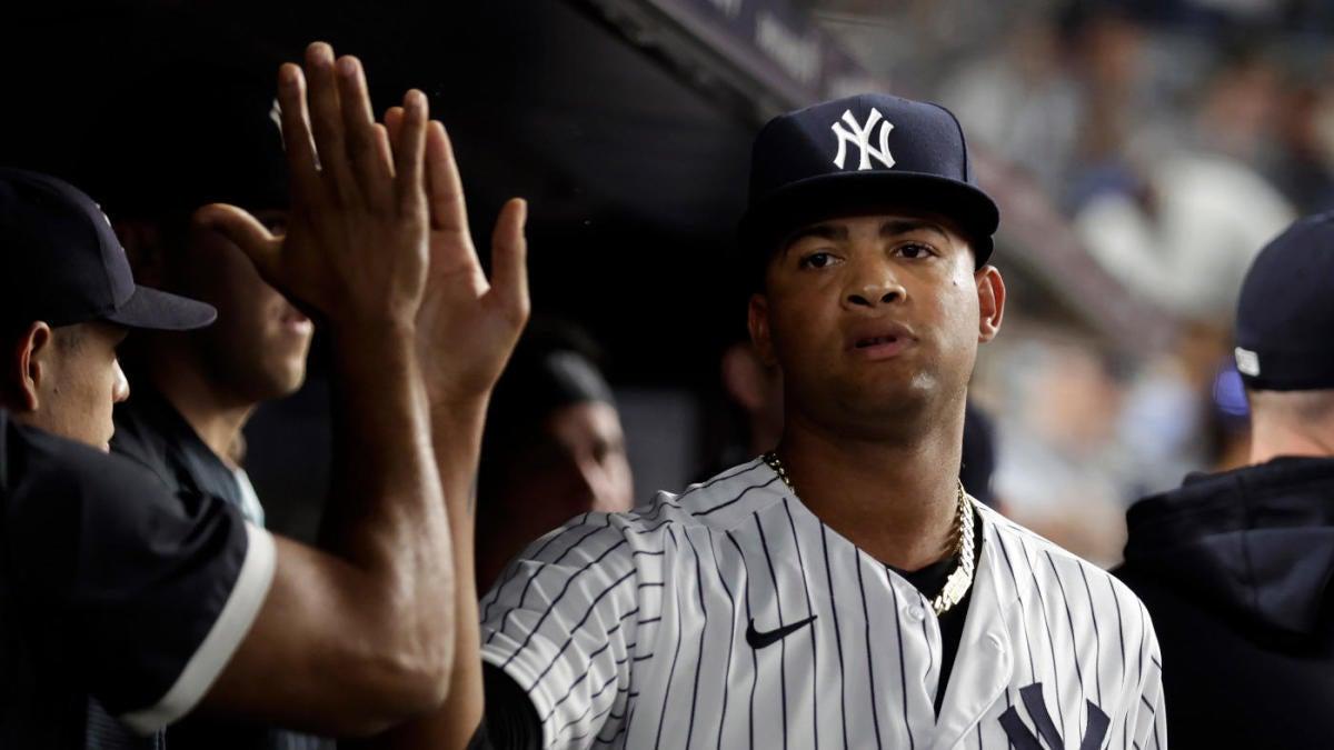 El novato de los Yankees Luis Gil hace historia en la MLB en una barrida de doble cartelera contra los Medias Rojas