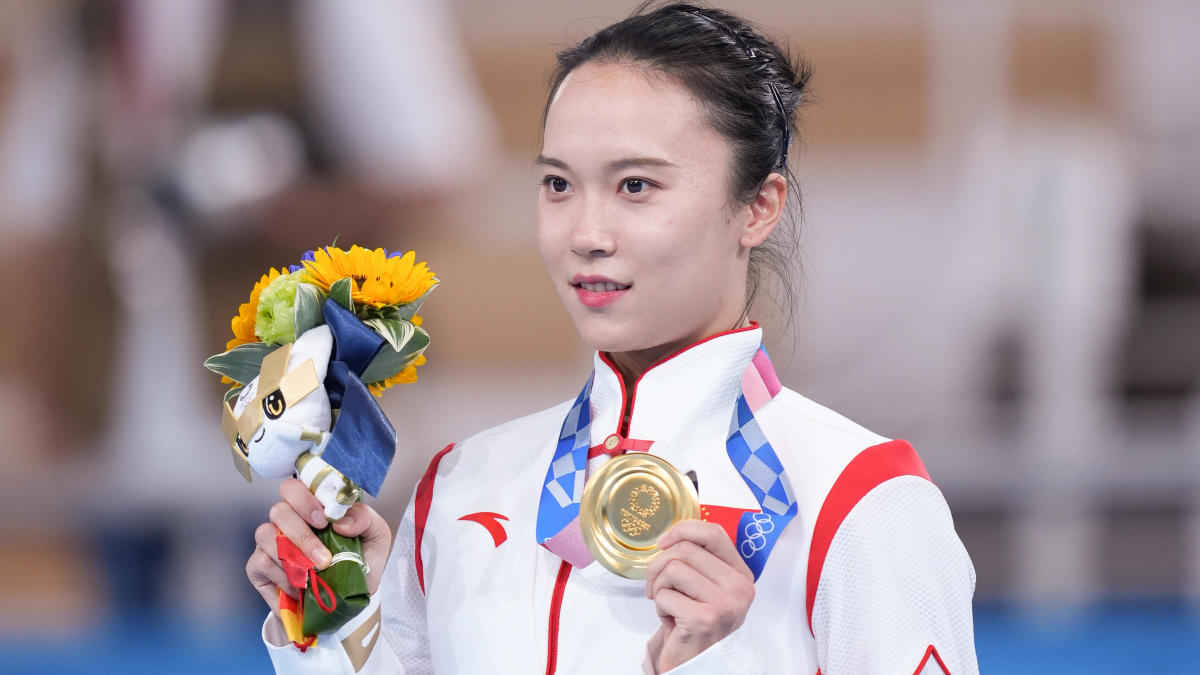 2020 Olympics: Chinese gymnast Zhu Xueying claims her gold medal is peeling