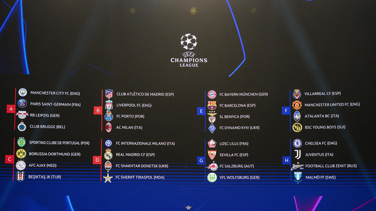 UEFA Champions League draw results: Man City draw PSG in group of death, Bayern Munich to face Barcelona