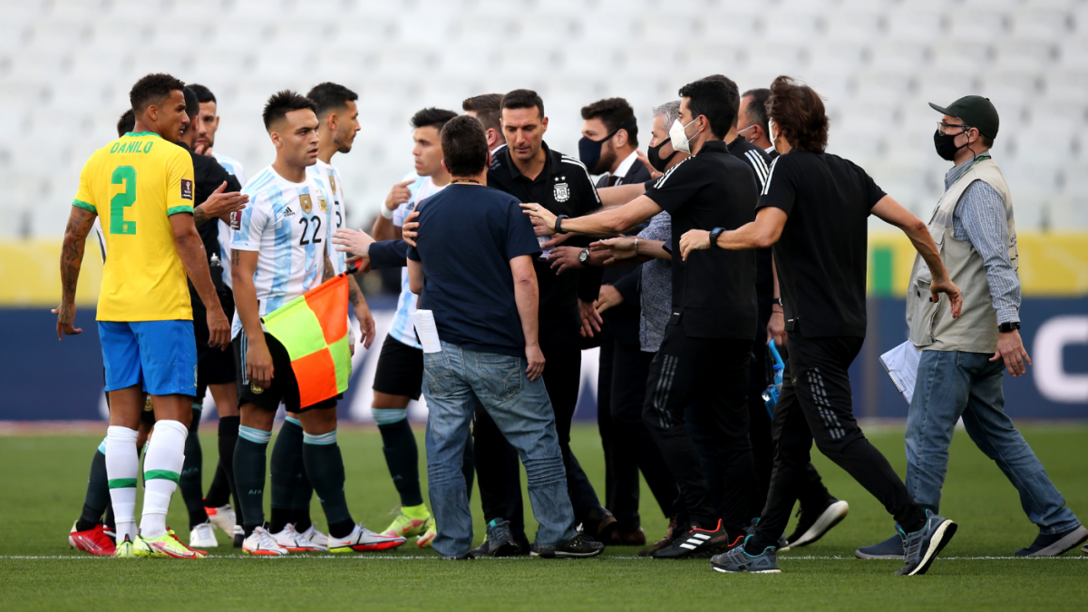 Brazil-Argentina suspended as health officials storm field to confront Argentine players over COVID protocols