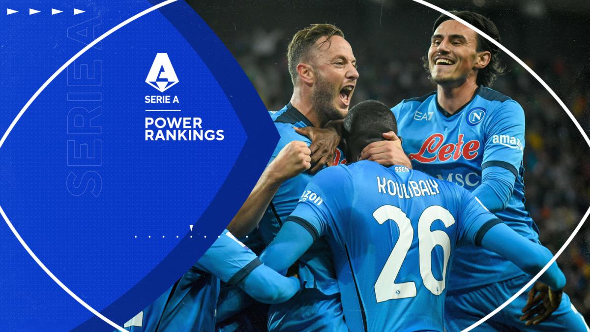 Serie A power rankings: Napoli take top spot as Juventus struggles continue and Jose Mourinho's Roma falter