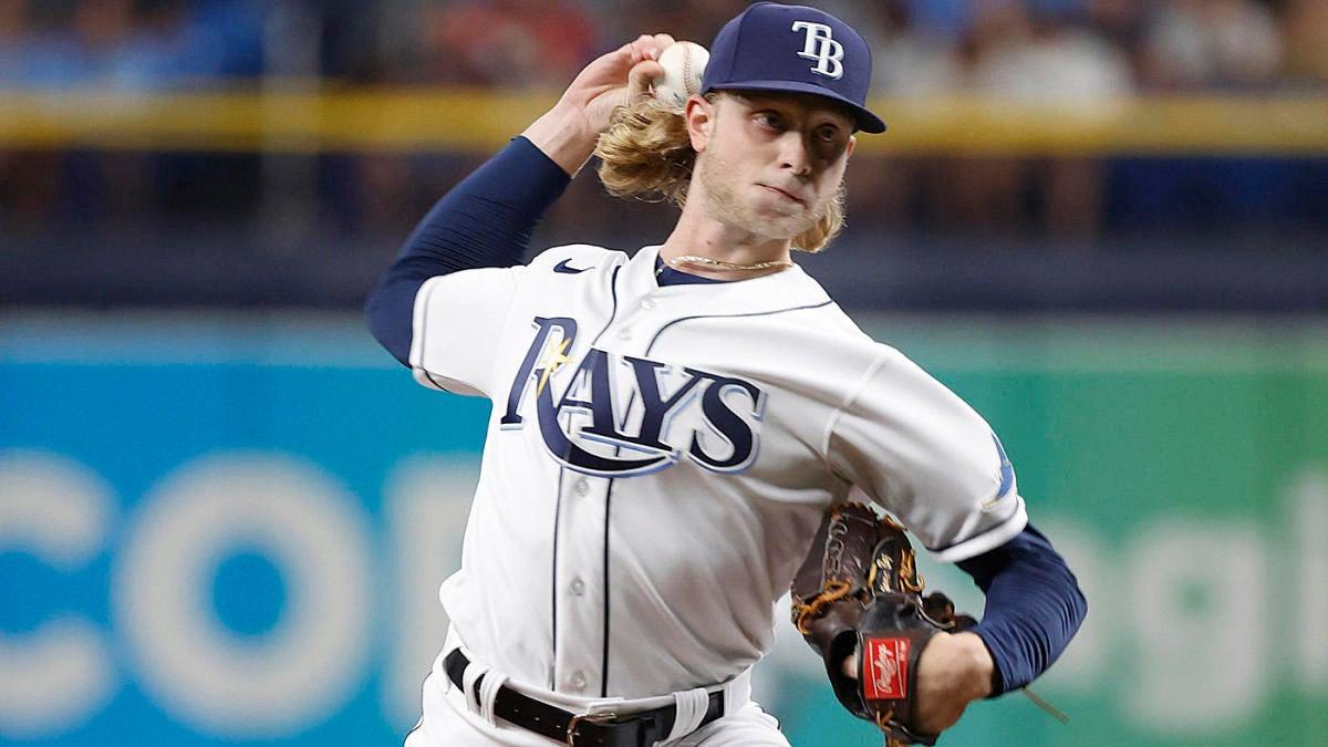 El prospecto lanzador de los Rays, Shane Baz, brilla en su debut en la MLB contra los Azulejos