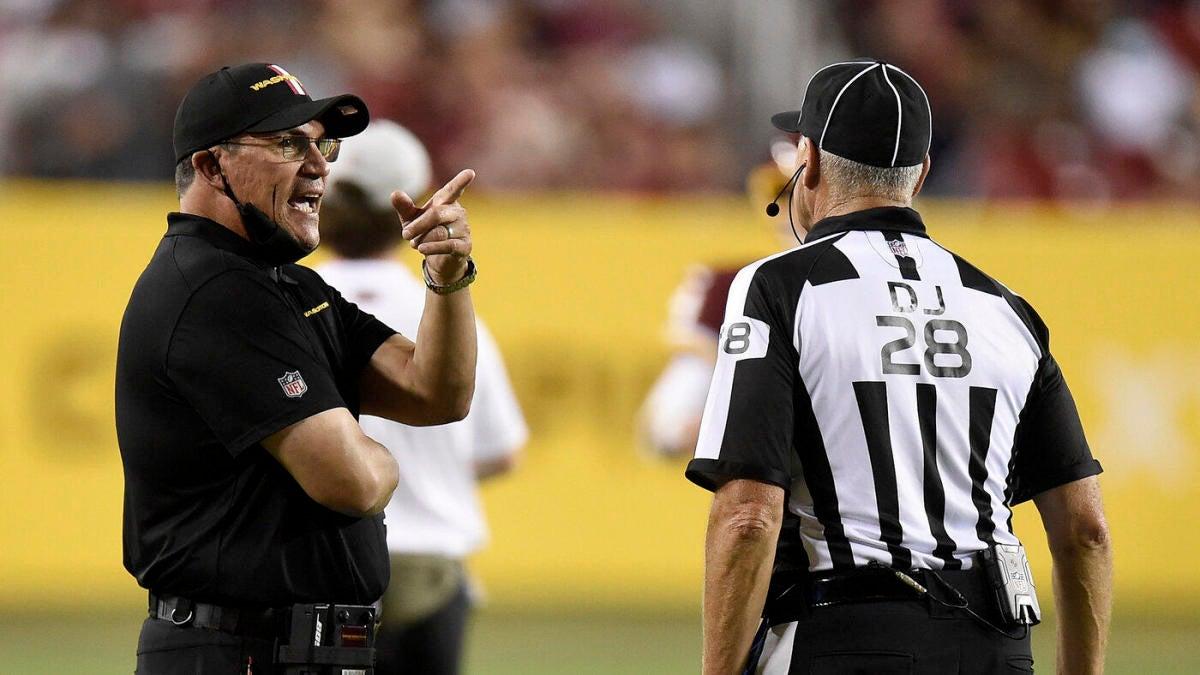 Ron Rivera defiende las reglas de burla de la NFL: 'Solo estamos tratando de asegurarnos de no tener una pelea en nuestras manos'