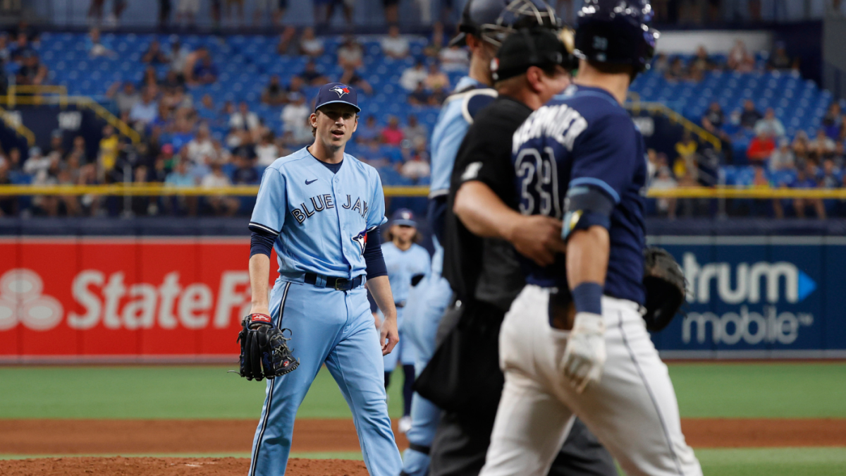 Blue Jays plunk Rays' Kevin Kiermaier over swiped data card after saying controversy was 'under the bridge'