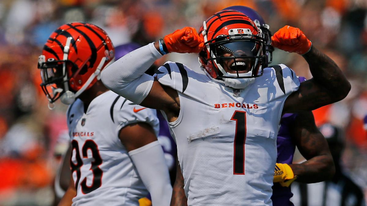 El novato WR Ja'Marr Chase de los Bengals empata el récord de recepciones de touchdown de la NFL frente a los Steelers