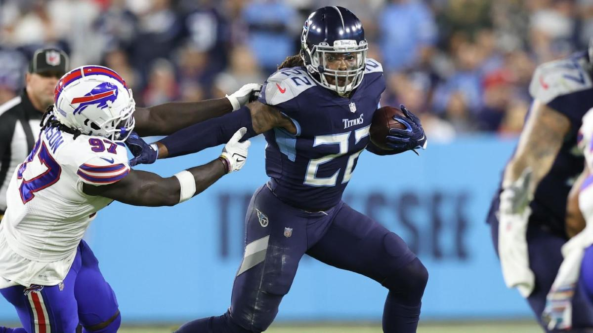 Derrick Henry reached an insanely fast speed on TD vs. Bills that no other NFL player has matched this year – CBS Sports