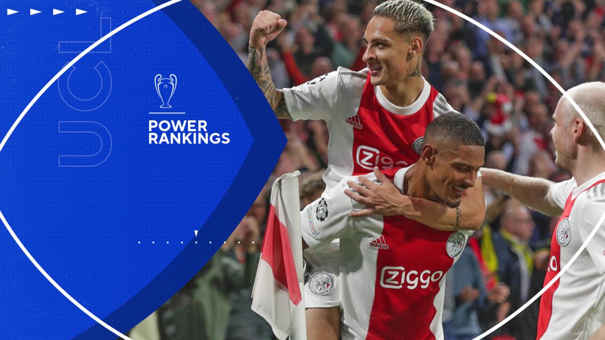 UEFA Champions League Power Rankings: Ajax leapfrog Paris Saint-Germain as Manchester City stay top